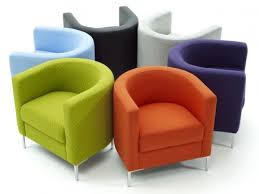 colorful modern bedroom chairs for comfortable seating in orange purple  green blue black and white with