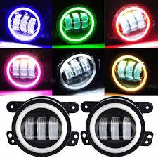 3 75 Fog Lights Jeep Wrangler Bluetooth Rgb Halo Led Fog Lights Jeeppeople Com