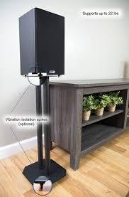 speakers desk. amazon.com: vivo premium universal floor speaker stands for surround sound \u0026 book shelf speakers desk