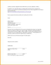 letter of appeal application for leave of absence from office college letter appeal