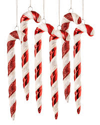 Christmas Decorations With Candy Canes Peppermint Twist Candy Cane Ornament Set Treetopia 75