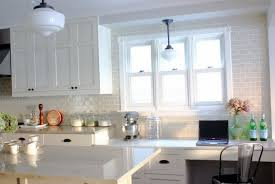 new white backsplash idea subway tile with cabinet home for kitchen quartz countertop off granite marble