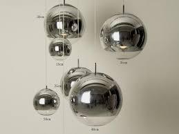e27 bulb led pendant lamp mirror glass ball modern classic fashion gold silver bronze color suspension luminaire fixture