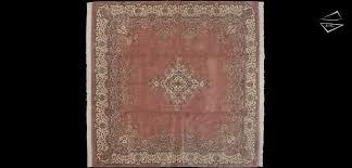 10x10 kerman design square rug