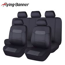 pu leather seat covers set 11 pieces universal fit car suv van pick up black