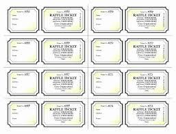 Free Editable Raffle Movie Ticket Templates Free Raffle Ticket