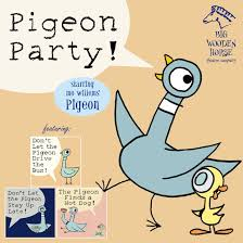 pigeon party starring mo willems pigeon