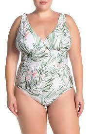Athena Swimwear Size Chart Athena Painted Nature Print One Piece Swimsuit Nordstrom Rack