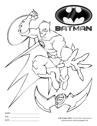 Small Picture Batman Coloring Pages for Kids Printable
