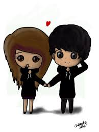 960x1280 love couple cartoon sketches boy draw emo style couple