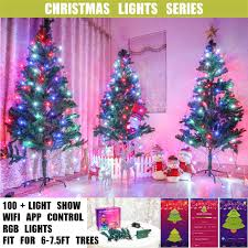 App Controlled Christmas Tree Lights Details About Smart Wifi App Controlled Rgb Indoor Christmas Tree Lights For 6 8ft Trees