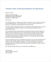 samples of a letter of recommendation 27 letter of recommendation in word samples