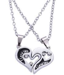 amour couple pendant his and hers stainless steel i love you men women couple pendant necklace amour613 amour couple pendant his and hers stainless