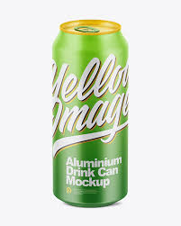 Includes special layers and smart object for your artworks. 500ml Matte Aluminium Can Mockup In Can Mockups On Yellow Images Object Mockups