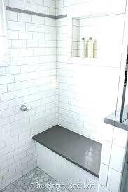 subway tile large large subway tile tiling a shower wall with tiles white thin grey grout