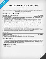 Dispatcher Resume Samples