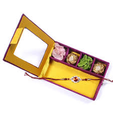 charming brother rakhi in gift box with chocolates for usa canada