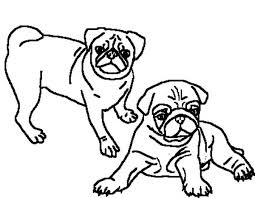 Small Picture Two Beautiful Pug Coloring Page Color Luna