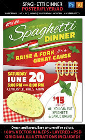 Flyers For Fundraising Events Spaghetti Dinner Fundraiser Event Poster Flyer Or Ad