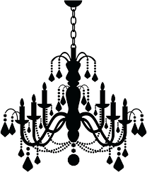 chandelier wall decal chandelier wall decal kid throughout chandelier wall art pertaining to cur household