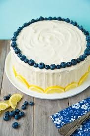 Lemon Blubberry Cake With Cream Cheese Frosting Cooking Classy