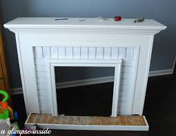 Faux Fireplace Insert A Glimpse Inside Faux Fireplace Makeover