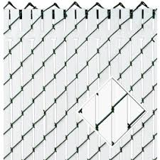 Perfect Chain Link Fence Slats Pexco White Chainlink Privacy Throughout Decorating