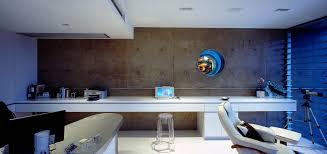 futuristic home office. Office, Home Study, Corian, Minimal, Polished Concrete Walls, Port Futuristic Office G