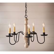 medium norfolk wood chandelier in sturbridge white