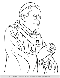 Pope Benedict Xvi Coloring Page Pope