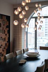 bubble light chandelier bathroom contemporary with bathtub beige wall brown contemporary chandelier for dining room