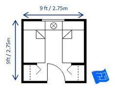 Small Bedroom Design   Minimum Bedroom Size For Two Twin Beds   Space  Between Beds Is
