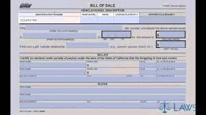 Dmv Ca Bill Of Sale Bill Of Sale