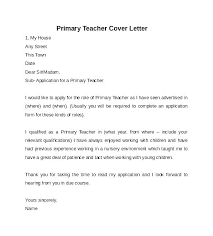 Teacher Cover Letter Samples Teacher Resume Cover Letter Example Of