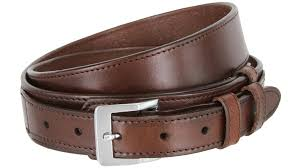 1024 traditional ranger full grain smooth leather belt 1 1 2 1 wide brown