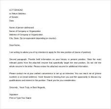 Letter Interest Template Simple Intent For Job New Position Sample