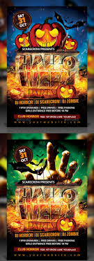 best halloween psd party flyer templates  halloween party flyer