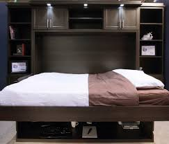 hidden wall bed. Having The Hidden Wall Beds Is Best Choice : Bed With Lamp Effect L