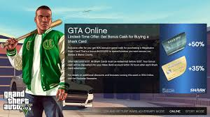 Buy whatever you want, and believe it, there's plenty to desire! Shark Card 35 50 Bonus Gtaonline