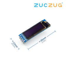 <b>0.91</b> Inch 128x32 IIC I2C White / Blue OLED LCD Display DIY ...