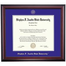 stephen f austin state school color traditional diploma frame  stephen f austin state school color traditional diploma frame