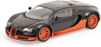 Autoart bugatti veyron super sport world record black/orange 1:18 le 1000*rare! Amazon Com 1 18scale Minichamps Minichamps Bugatti Veyron Super Sport 2011 Bugatti Super Sport Bailon Toys Games