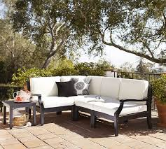 hampstead painted sectional set black