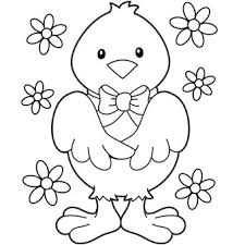 Small Picture Baby Chick with Flowers Easter egg hunt Pinterest Flowers