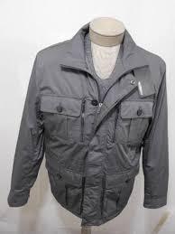murano men s water wind resistance zip jacket winter outerwear coat grey l 199