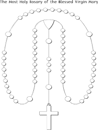Small Picture Printable Coloring Page for Kids Rosary Religion Pinterest