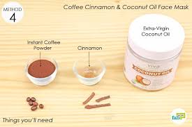 list of things needed to make the coffee face mask for acne