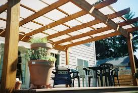 exterior oak wooden ceiling pergola cover with transparant fiberglass roofing