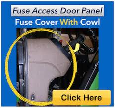 fuse access door panel john deere  fuse covers002 jpg