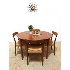 mid century vintage danish dyrlund extending round dining table 1960s vintage designer furniture